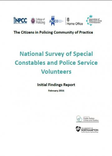 Screenshot for National Survey of Special Constables and PSV's - Initial Findings Report
