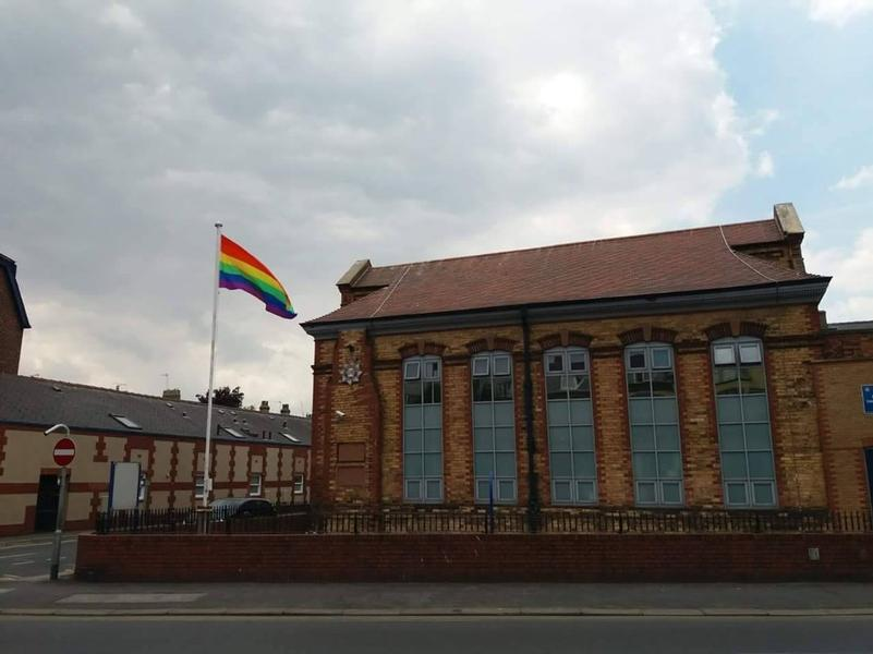 Police station's rainbow flag pulled down in suspected hate crime